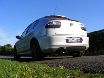 New performance exhaust system for the Seat Leon Cupra R 210 and 220.