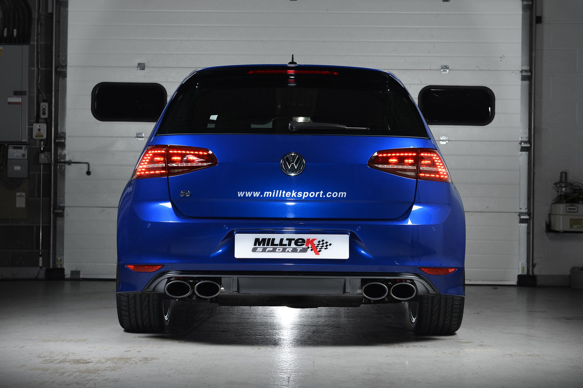 Audi RS3 8v Sportback Milltek Sport Pair Cerakote Black Oval Exhaust Tips Only